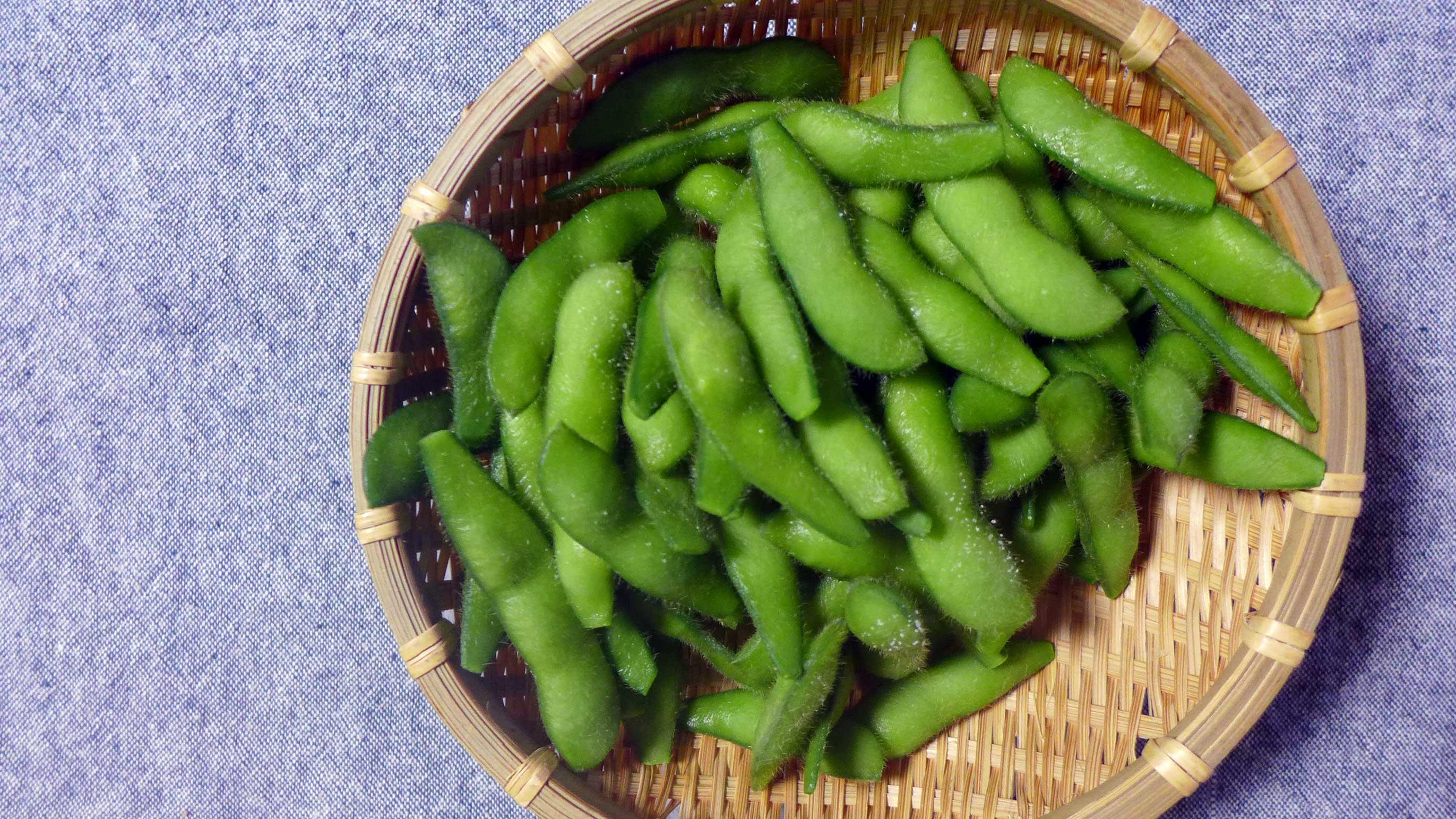 枝豆の季節!おいしい枝豆「湯上り娘」